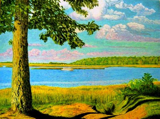 떡갈나무가 있는 해변