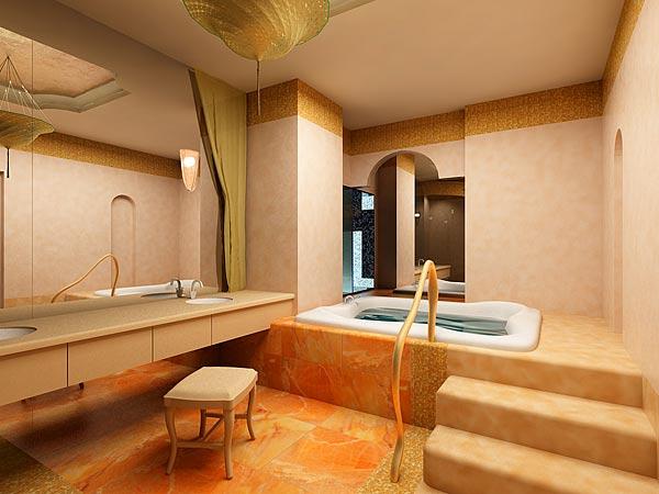 (궁전같은 욕실 인테리어사진)최고급 화장실 인테리어